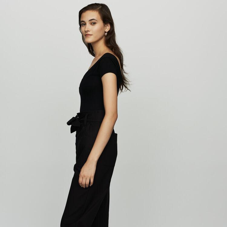 Short-sleeved bodysuit : The Spring Essentials color Black 210