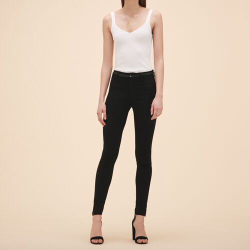 Cotton slim jeans - Pants & Jeans - MAJE