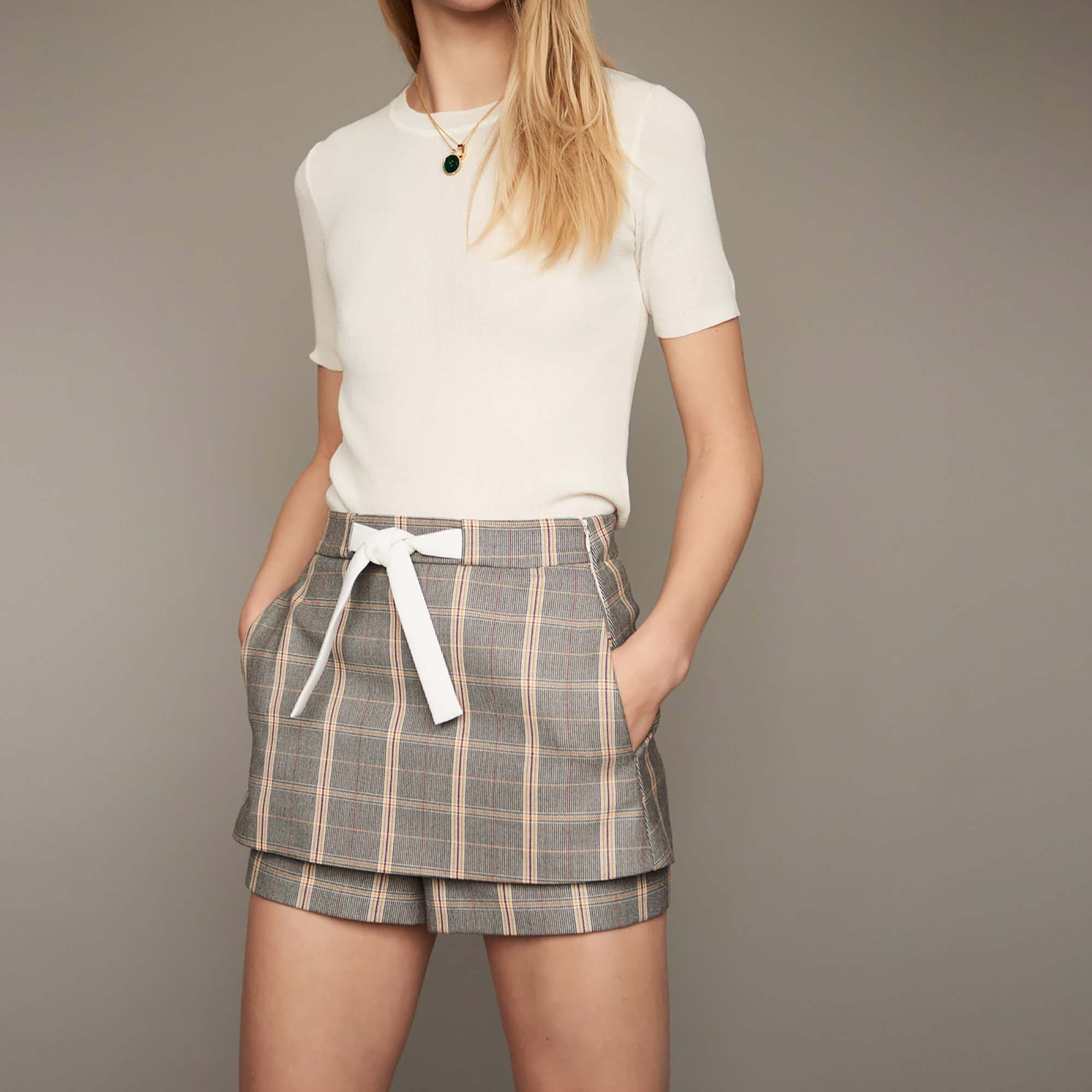 Skirts & Shorts true Checked shorts : Skirts & Shorts color CARREAUX