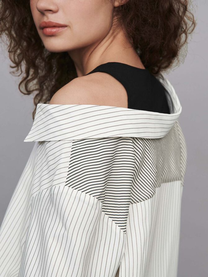 Striped layered top -  - MAJE