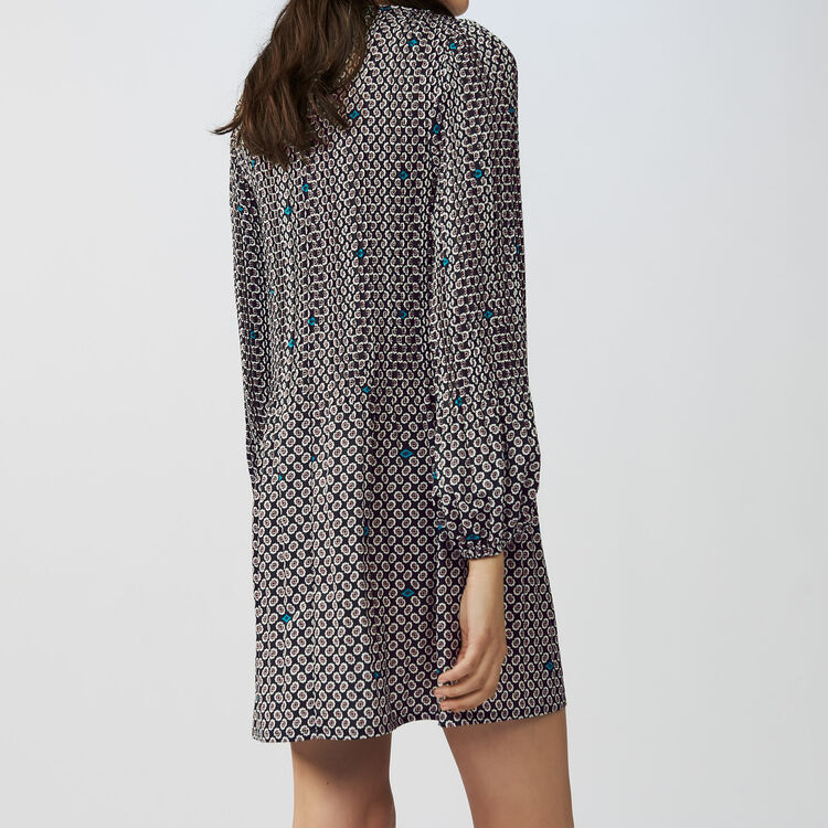 Pleated printed dress : Dresses color PRINTED