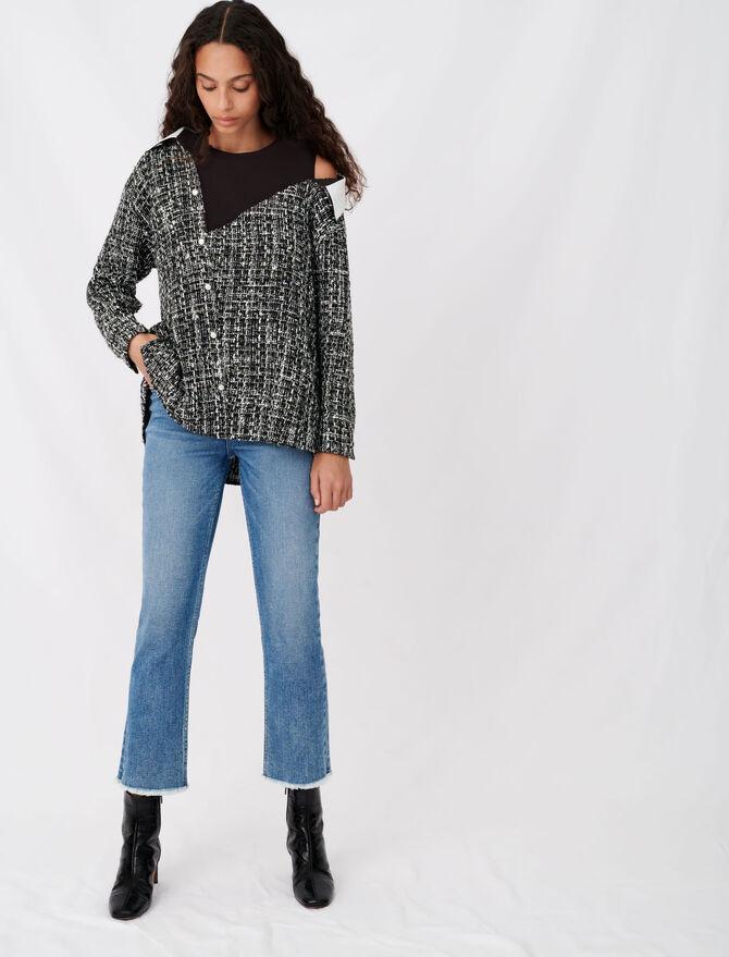 Tweed-style trompe-l'œil top -  - MAJE