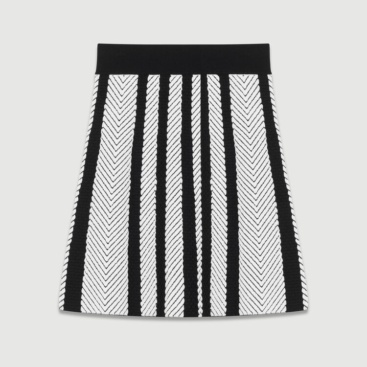 Knit trapeze skirt : Skirts & Shorts color Multico