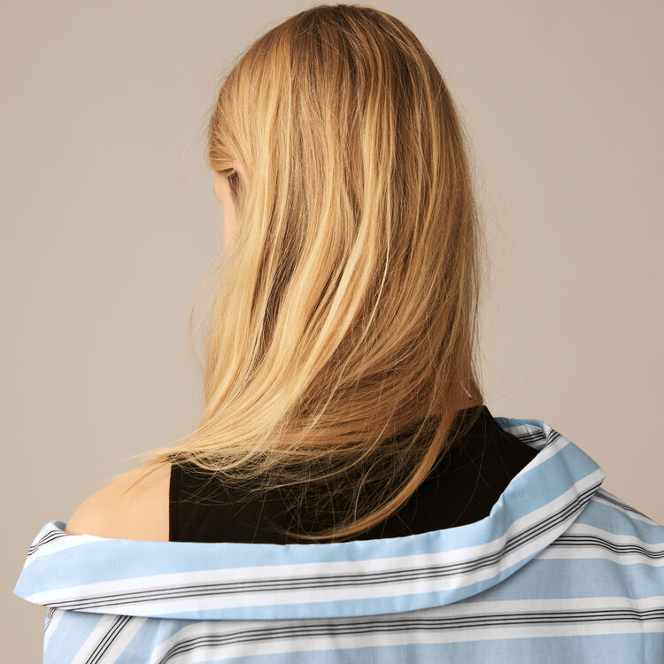 Unstructured striped shirt : Tops & T-Shirts color Blue Sky