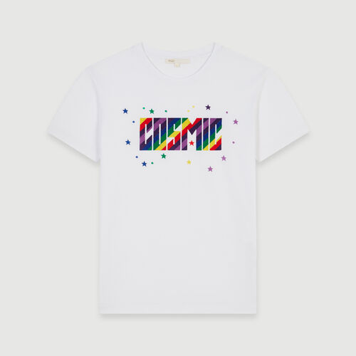 Embroidered tee shirt : Tops & T-Shirts color White