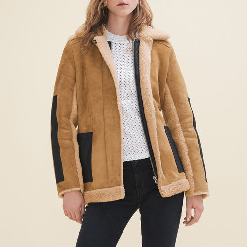 Sheepskin coat : Coats & Jackets color Caramel