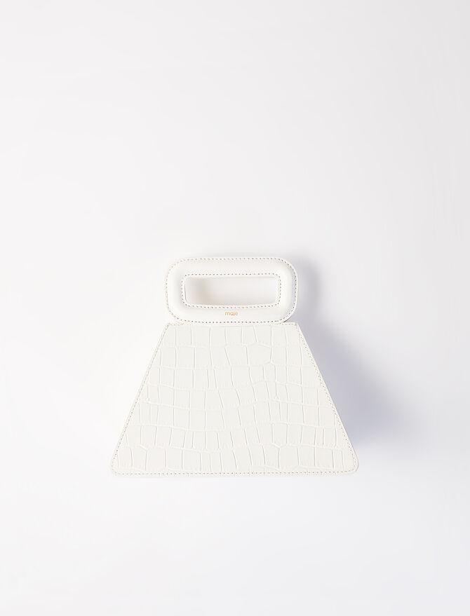 Crocodile-effect leather pyramid -  - MAJE