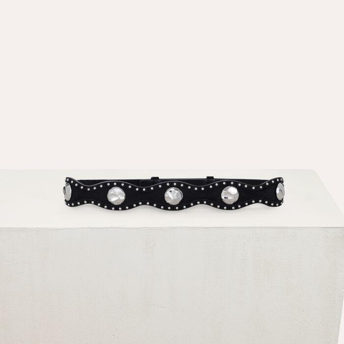 High-waisted suede belt : Belts color Black 210