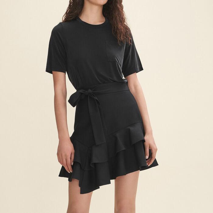 Jork Short Flounced Skirt Skirts Amp Shorts Maje Com