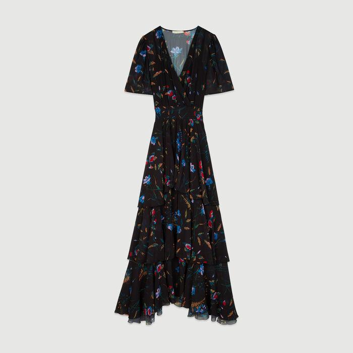 3f8220deb29 RUFFLE Floral maxi dress with ruffles - Dresses - Maje.com