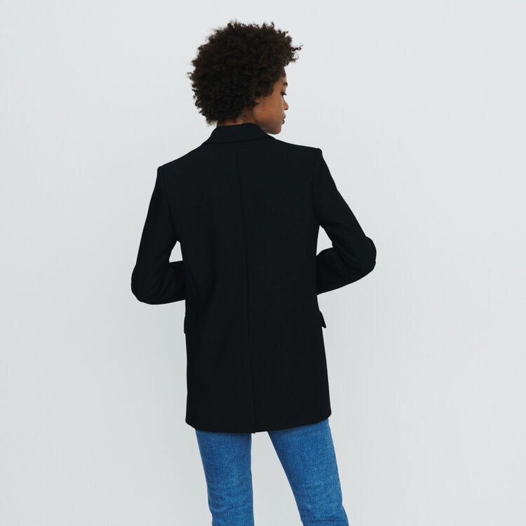 Suit jacket with buttons : Coats & Jackets color Black