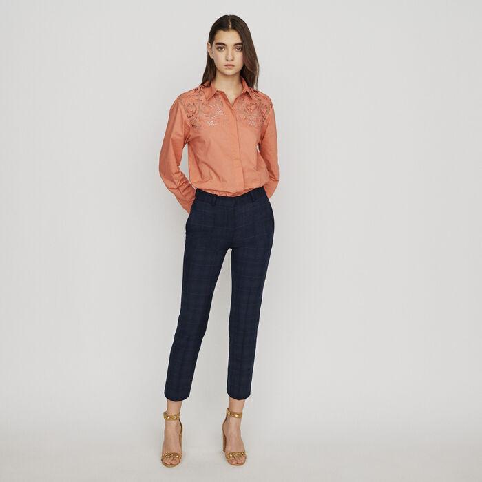 31d4573147b PALIRO 7 8 plaid pants - Pants   Jeans - Maje.com