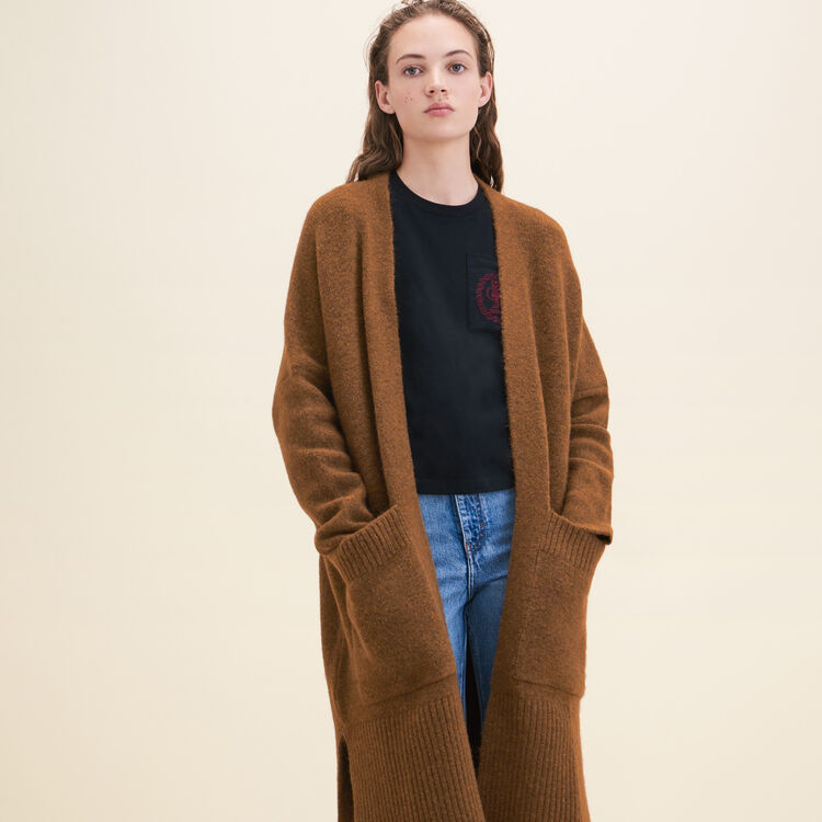 Long oversized cardigan - Sweaters - MAJE
