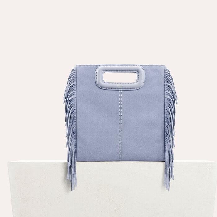 Suede M bag : M Bags color Blue