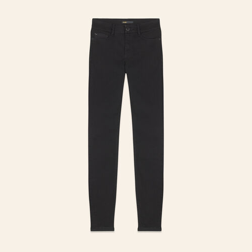 Cotton slim jeans : Pants & Jeans color Black 210
