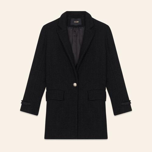Mid-length tweed jacket : Coats & Jackets color Black 210
