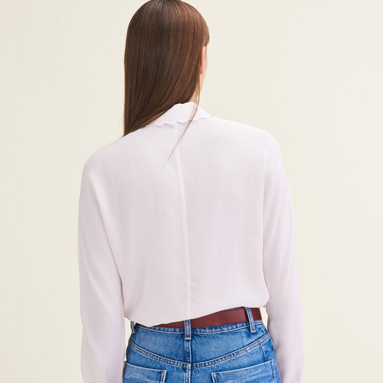 Silk blend shirt : Tops & Shirts color Pink