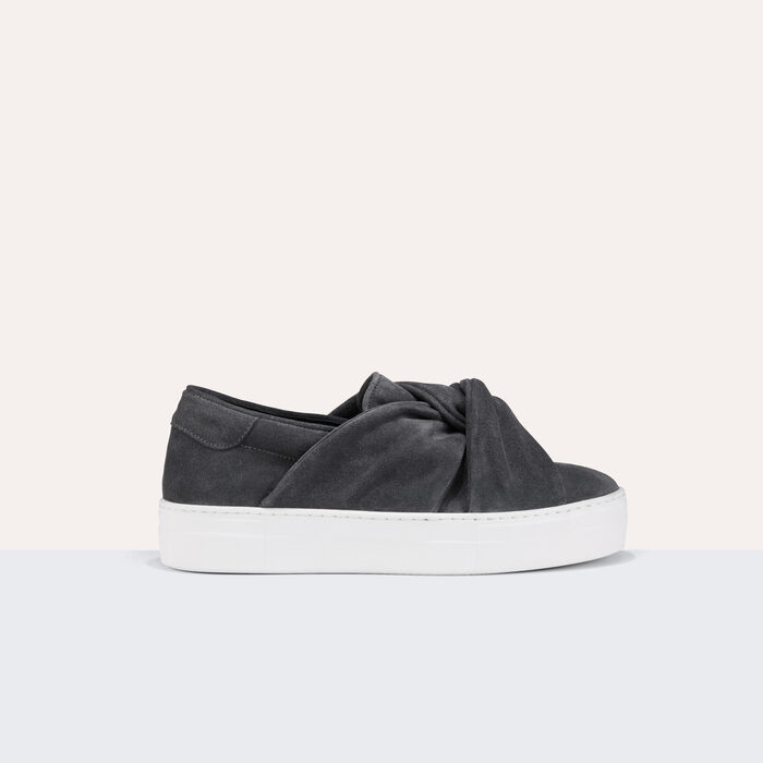 Suede trainers with bow -  - MAJE