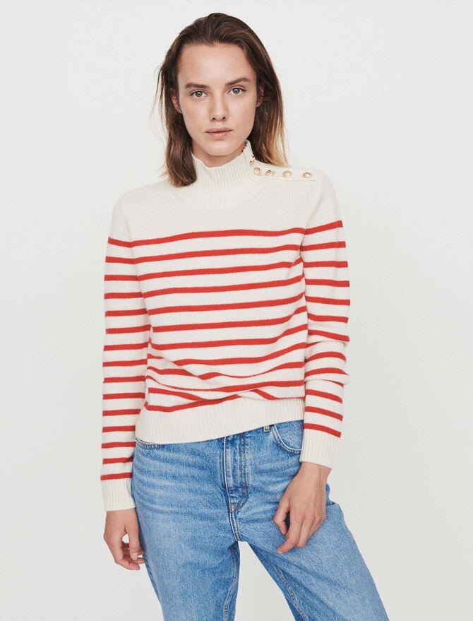 Sailor-style cashmere sweater -  - MAJE