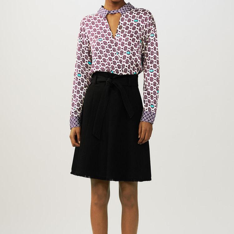 Printed satin top : Tops & Shirts color PRINTED
