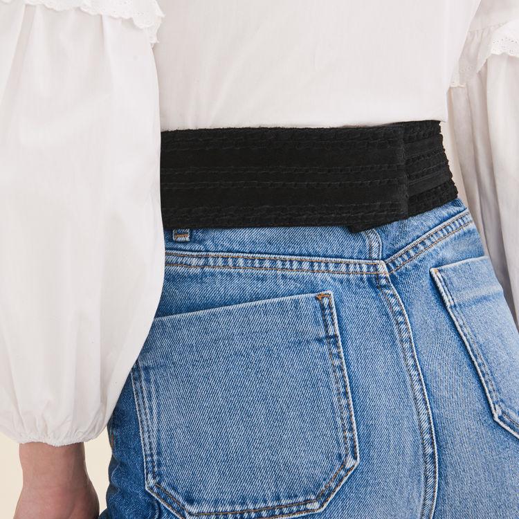 Large belt with suede fastening : 30% Off color Black 210