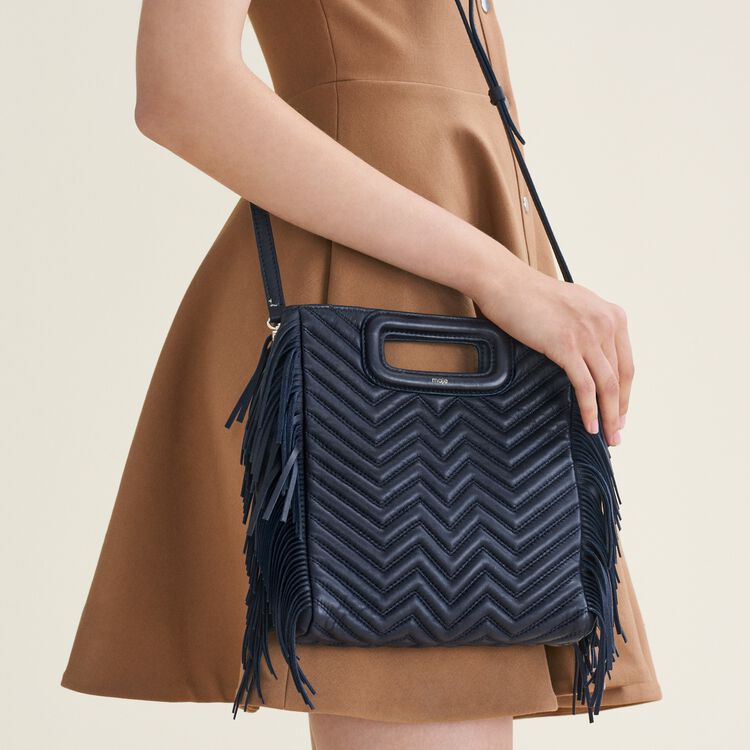 Quilted leather M bag : All bags color Navy