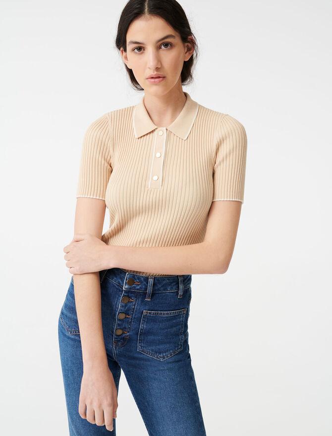 Ribbed polo sweater - Sweaters - MAJE