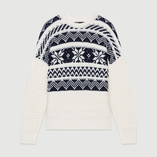 Jacquard knit sweater : Sweaters color ECRU