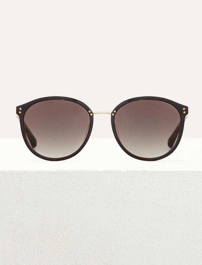 Sunglasses in acetate and metal -  - MAJE
