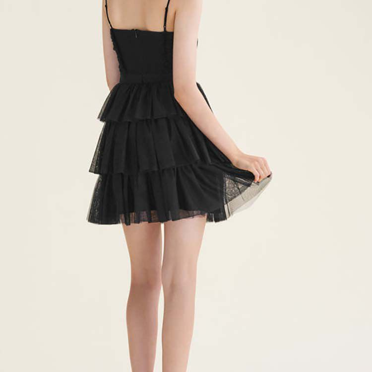 Short frilled tulle dress - Dresses - MAJE