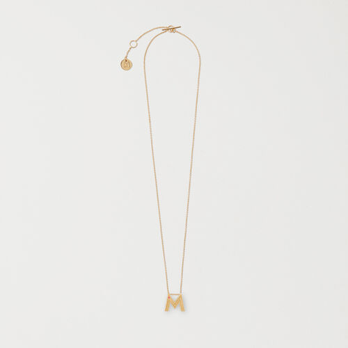 Necklace with initial pendant - Alphabet Jewelry - MAJE
