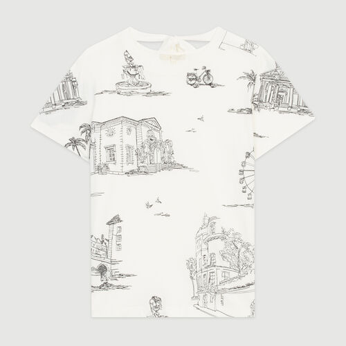 T-shirt with Paris embroidery : Tops & T-Shirts color Ecru
