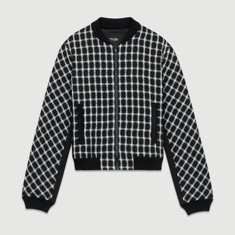 Plaid bomber : Coats & Jackets color CARREAUX
