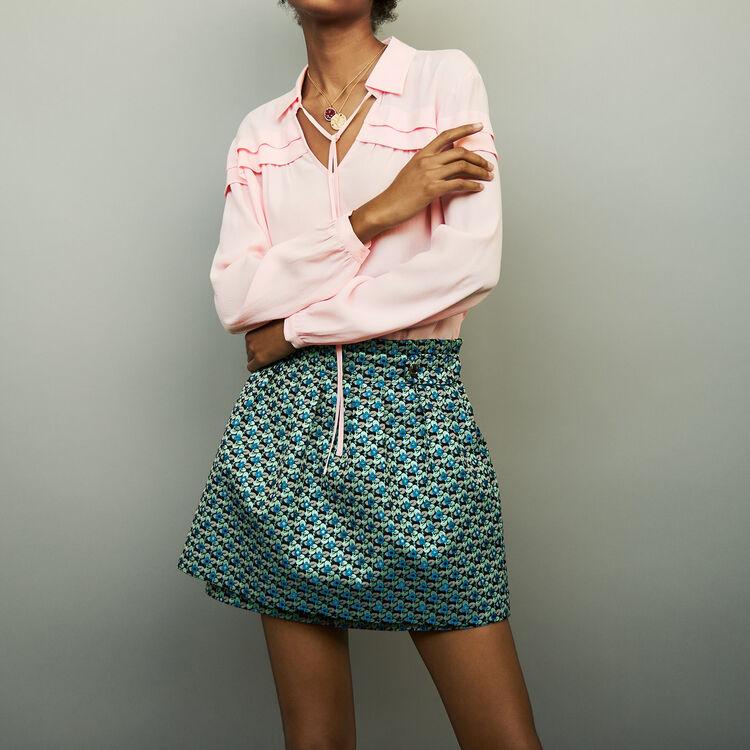 Shirt collar blouse : Tops & Shirts color PURPLE