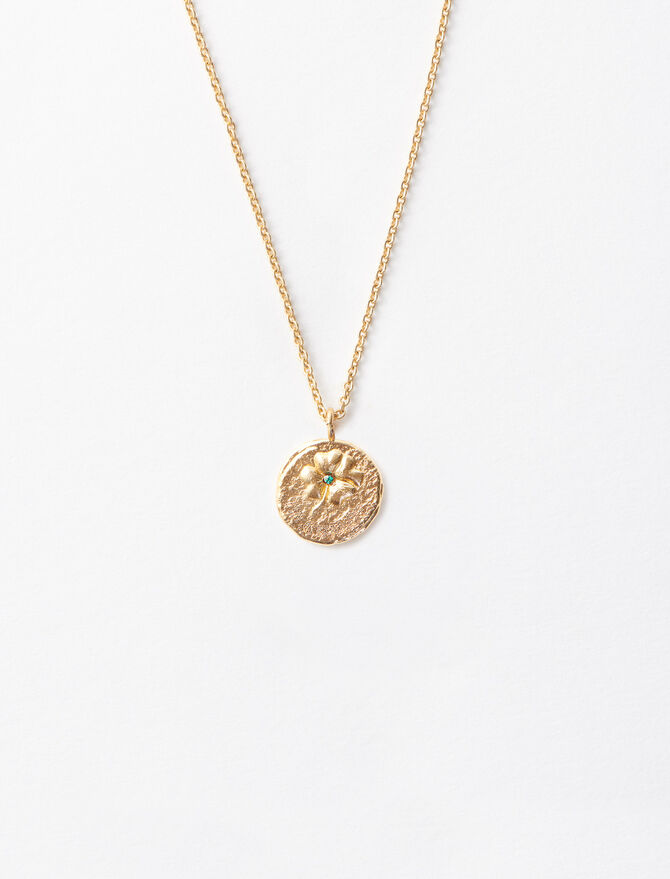 """Ma Chance"" gold-plated necklace. -  - MAJE"