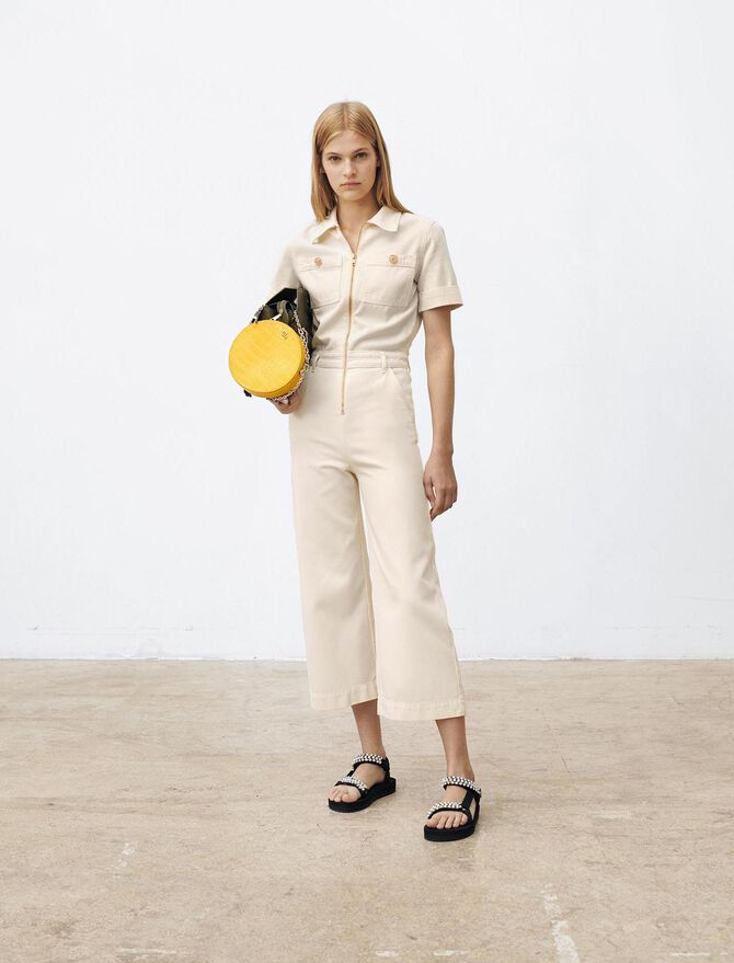 Workwear cotton canvas jumpsuit - Jumpsuits & Rompers - MAJE