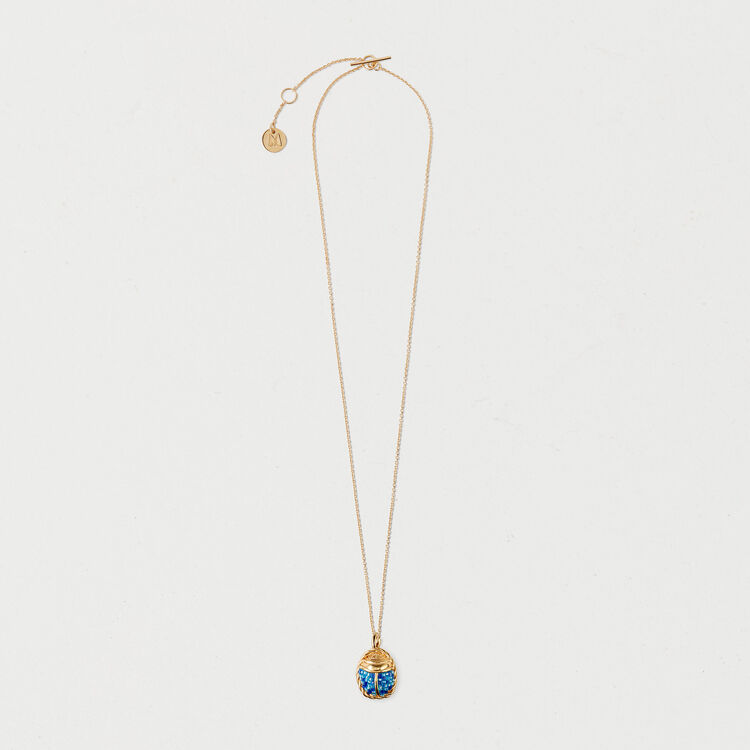 Scarab necklace : Shoes & Accessories color GOLD