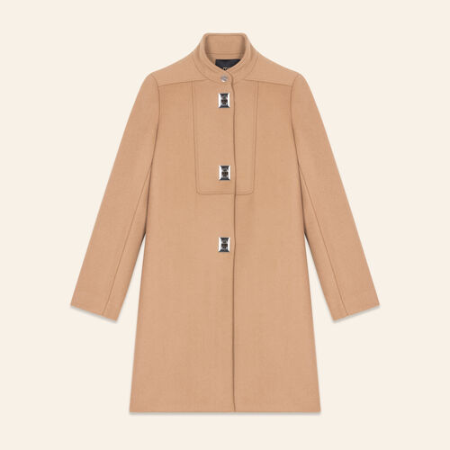 Coat with decorative fastenings - Coats & Jackets - MAJE
