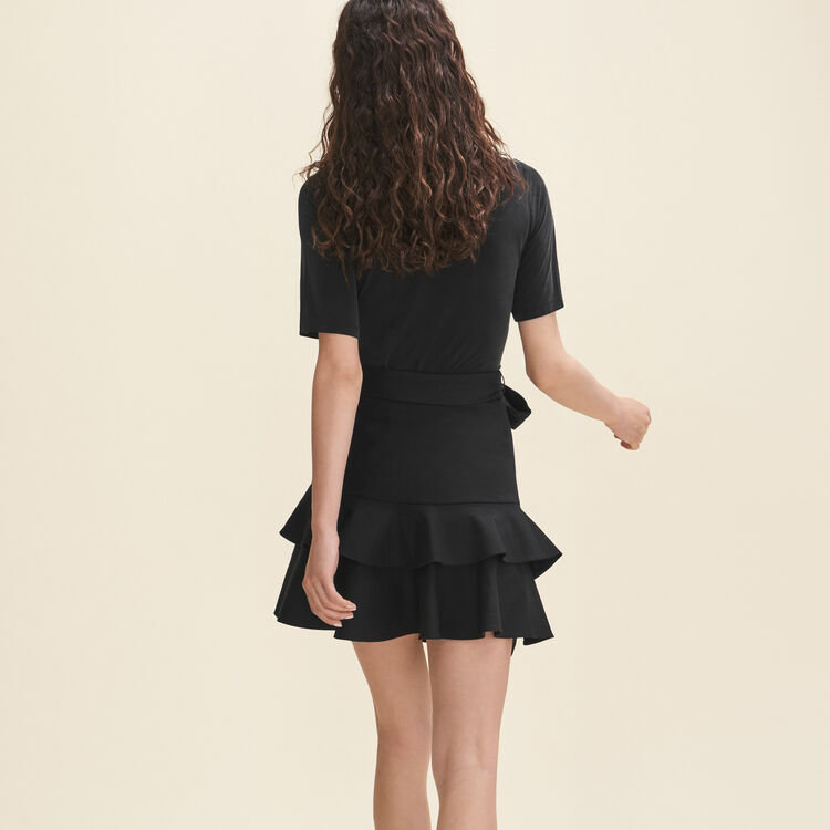 Short flounced skirt : Skirts & Shorts color Black 210