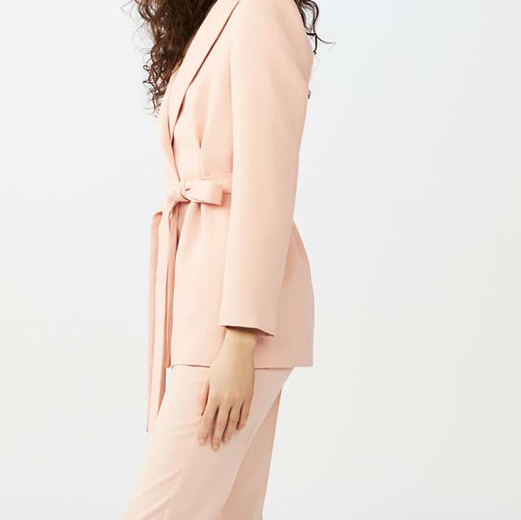 Long suit jacket with clasps : Coats & Jackets color Pink