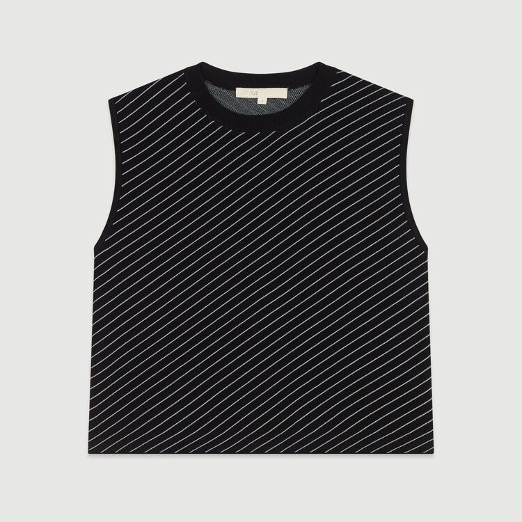 Sleeveless striped sweater : Sweaters color Stripe