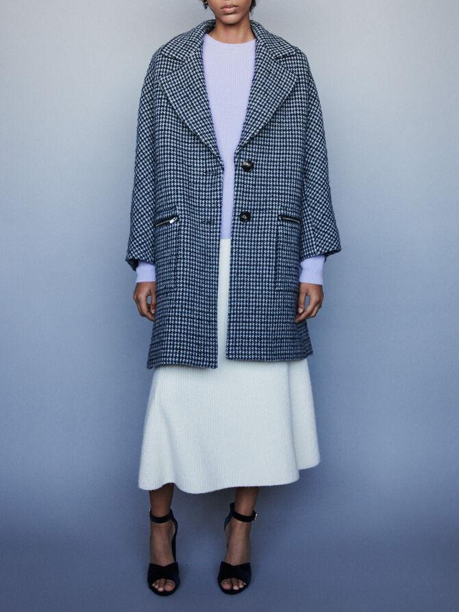 Plaid coat with zipped pockets - Coats & Jackets - MAJE