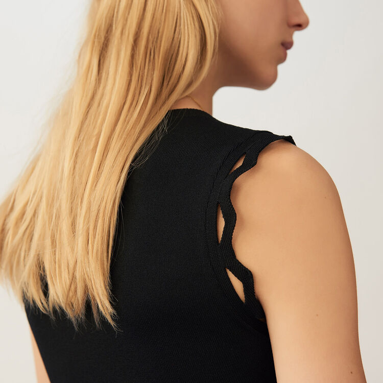 Openwork knit dress : Pre-collection color Black 210