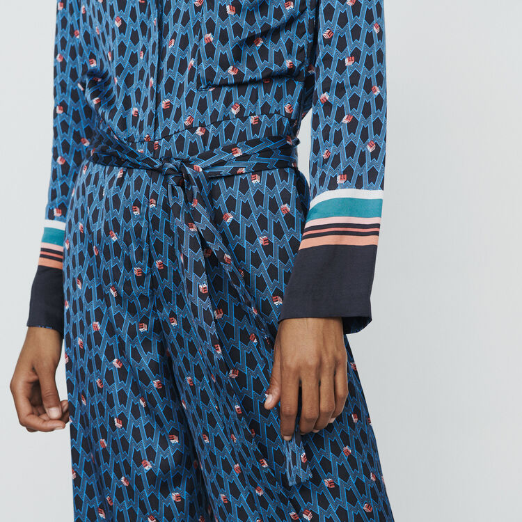 Monogram printed trouser suit : Jumpsuits & Rompers color Printed