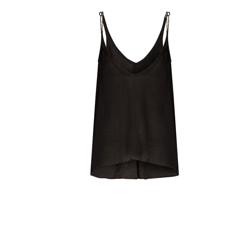 Floaty vest top with lurex : Copy of Sale color