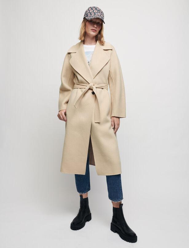 마쥬 MAJE Double-faced wool-blend coat