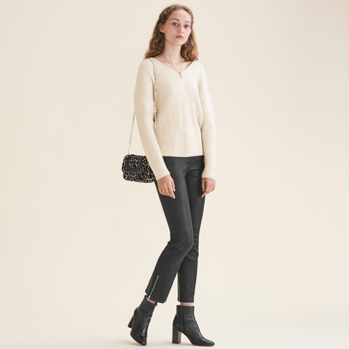 Loose cashmere jumper : Sweaters color Nude