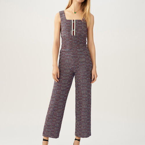 Tweed jumpsuit : Jumpsuits color Jacquard