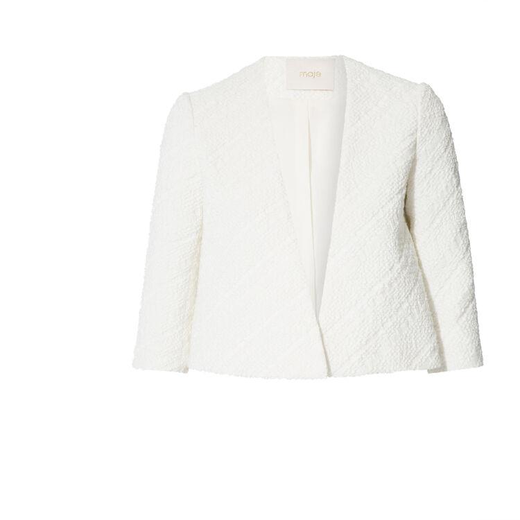 cropped cotton jacket : Copy of Sale color