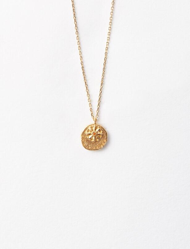 마쥬 MAJE Necklace with medallion Mon etoile,Gold